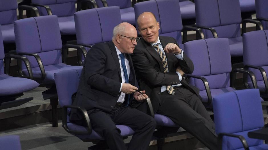 Die Fraktion führt ihr eigenes Leben: Kauder und Brinkhaus 2015 im Bundestag
