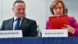 Co-Vorsitzende von Storch rückt in Berliner AfD in die zweite Reihe