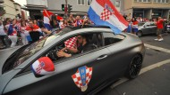 Zagreb? Nein, Frankfurt am Tag des WM-Finales 2018