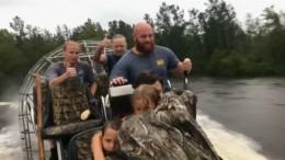 Rettung nach vier Stunden in den Fluten