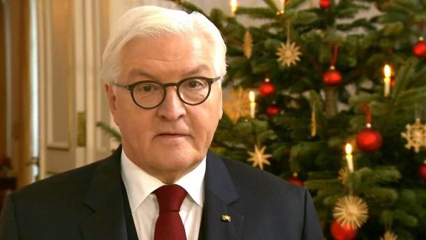 Steinmeier ruft in Weihnachtsansprache zu Zivilcourage auf