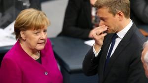 Lindner kritisiert Merkels Wiederwahlpläne