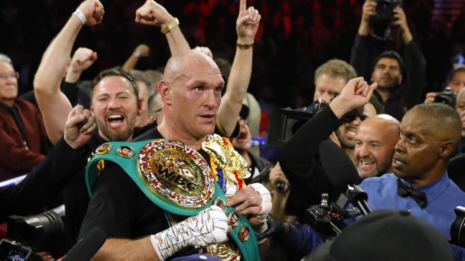 Tyson Fury nach seinem Sieg gegen Deontay Wilder