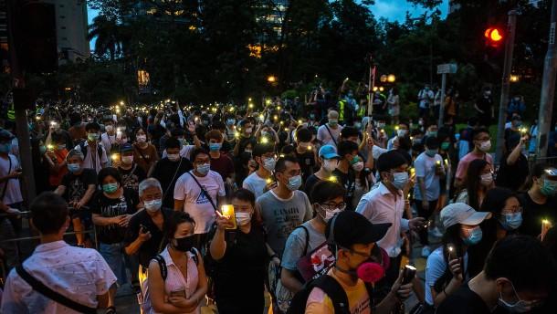 Über 50 Festnahmen in Hongkong