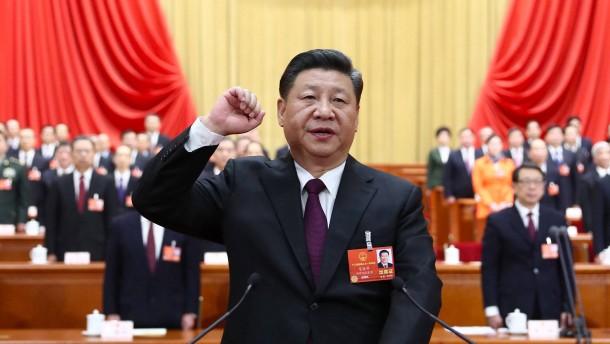 Schaulaufen der chinesischen Regierung