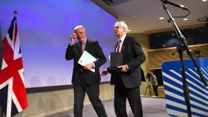 EU und London einigen sich auf Brexit-Fahrplan