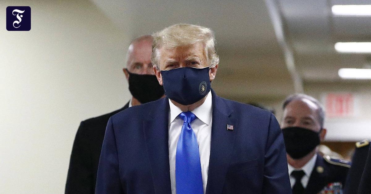 Trump trägt jetzt Maske - F.A.Z.