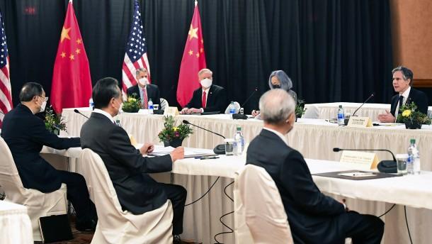 Erstes Treffen: China stochert in Amerikas Wunde