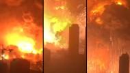 Amateurvideo zeigt Explosion von Tianjin