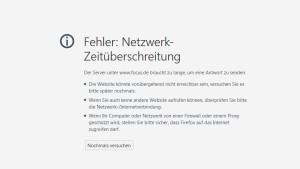 Internetseiten melden technische Probleme