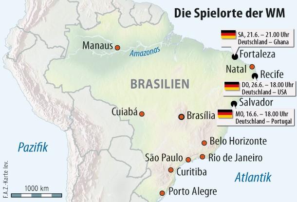 Wm 2018 Spielorte Karte.Fußball Wm 2014 Deutschland Gegen Portugal Ghana Und Vereinigte