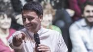 Wahlkampfauftritt von Italiens Ministerpräsident Matteo Renzi in Rom.