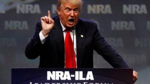 """Waffenlobby will mit ihrem Präsidenten """"Amerikas Freiheit"""" feiern"""