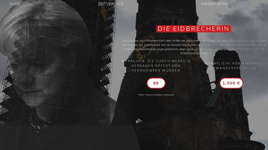 Screenshot www.merkeldieeidbrecherin.com