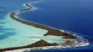 Das Funafuti-Atoll, Teil des Inselstaates Tuvalu im Pazifik, auf einer Aufnahme aus dem Jahr 2007