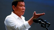 Rodrigo Duterte bei seiner Rede.
