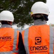 Mitarbeiter des französischen Stromnetzbetreibers Enedis (Archivbild)