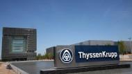 Will wieder in ruhigeres Gewässer: Thyssen Krupp-Stammsitz in Essen