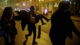 Zusammenstöße bei Demonstrationen
