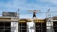 Es wird gebaut: Die Fonds nehmen zu, obwohl die Immobilienpreise stetig steigen.