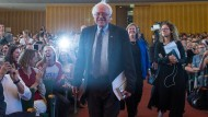Bernie Sanders zu Gast an der Freien Universität Berlin