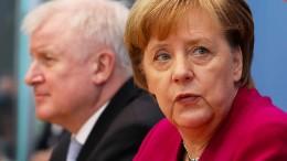 Merkel unterstützt Seehofer bei längeren Grenzkontrollen