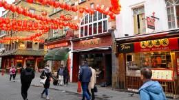 Leere Straßen in Chinatowns