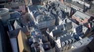 Frankfurts neue Mitte: der Blick vom Domturm auf die neue Altstadt