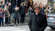 Da hoffte er noch: Carles Puigdemont am 31. Oktober in Brüssel