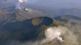 Vulkan in Japan vor Ausbruch