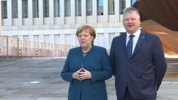Merkel weiht neue BND-Zentrale in Berlin ein