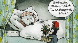 Eisbären im Hausflur