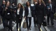 Entschlossen: Miller (Mitte) auf dem Weg zum Gericht im Oktober 2016