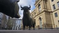 Im Moment hat der Bulle das Sagen: Die Aktienkurse steigen kräftig