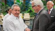 Steinmeier verspricht Castro Deutschlands Unterstützung