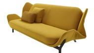 Clam heißt das Sofa, das sich wie eine Muschel öffnen lässt, so dass ein Bett entsteht. Der Entwurf für den französischen Hersteller Ligne Roset stammt von den jungen Franzosen Léo Dubreil und Baptiste Pilato, die sich beim Studium in Straßburg kennengelernt haben.