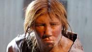 Modell eines Neandertalers