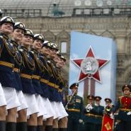 Parade auf dem Roten Platz in Moskau: Russland erinnert am 9. Mai 2019 an das Ende des Zweiten Weltkriegs.
