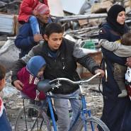 """""""Es gibt keine Stadt mehr"""": Syrer aus Ostaleppo auf der Flucht"""