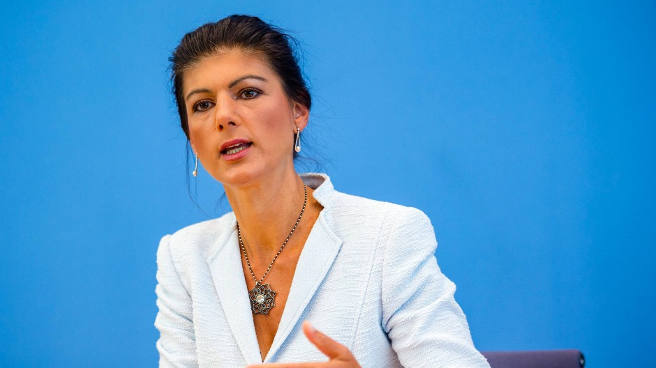 Die Fraktionsvorsitzende der Linken, Sahra Wagenknecht