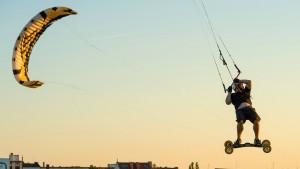 Immerhin Kite-Surfen – in der Stadt