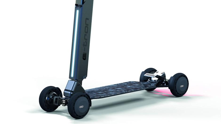 """Mit vier beweglichen Achsen ist der """"e-tron Scooter"""" besonders beweglich und sportlich."""