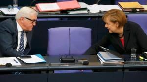 Steinmeier: Außenpolitik ist Gegenteil von militärischer Eiferei