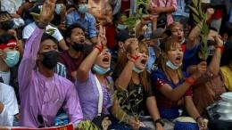 Proteste in Myanmar halten weiter an