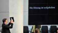 Erinnerungsfoto im Bundestag