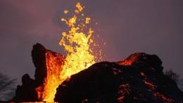 Leuchtende Lava des Kilauea
