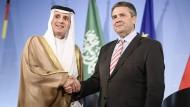 Partner: Saudi-Arabiens Außenminister Al Dschubeir und Sigmar Gabriel