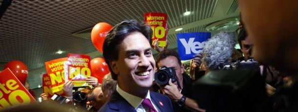 Ed Miliband vor dem schottischen Unabhängigkeits-Referendum in Edinburgh