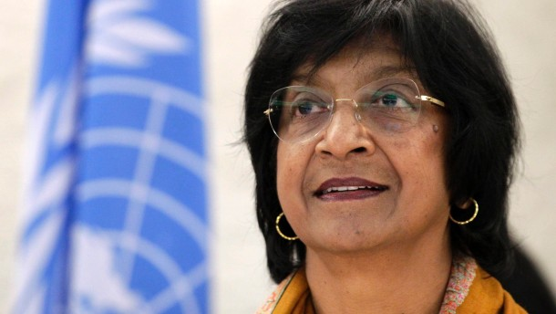 U.N. High Commissioner for Human Rights Pillay looks on before the 22nd session of the Human Rights Council at the United Nations in Geneva
