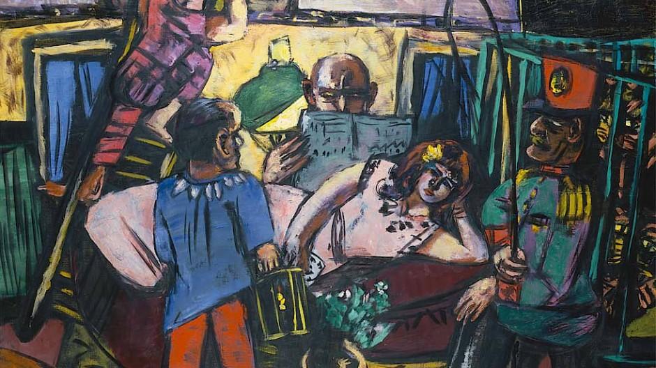 """Abseits der Manege: Max Beckmann, """"Zirkuswagen"""", 1940"""